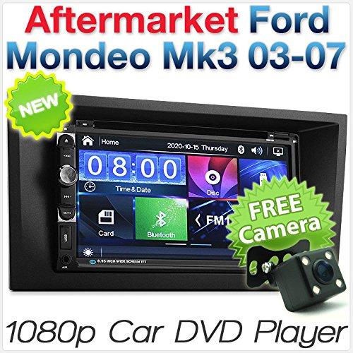 Reproductor de DVD para Coche de 7 Pulgadas con USB MP3 para Ford Mondeo Mk3 Fascia Kit ISO Estéreo Radio CD