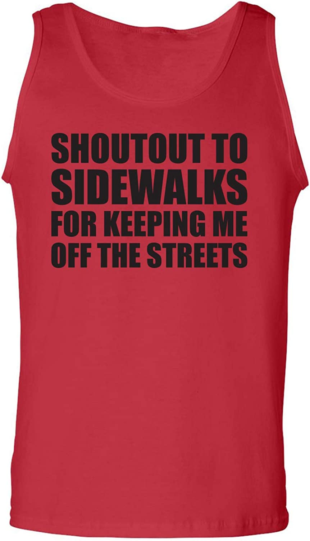 zerogravitee Shoutout to Sidewalks Adult Tank Top