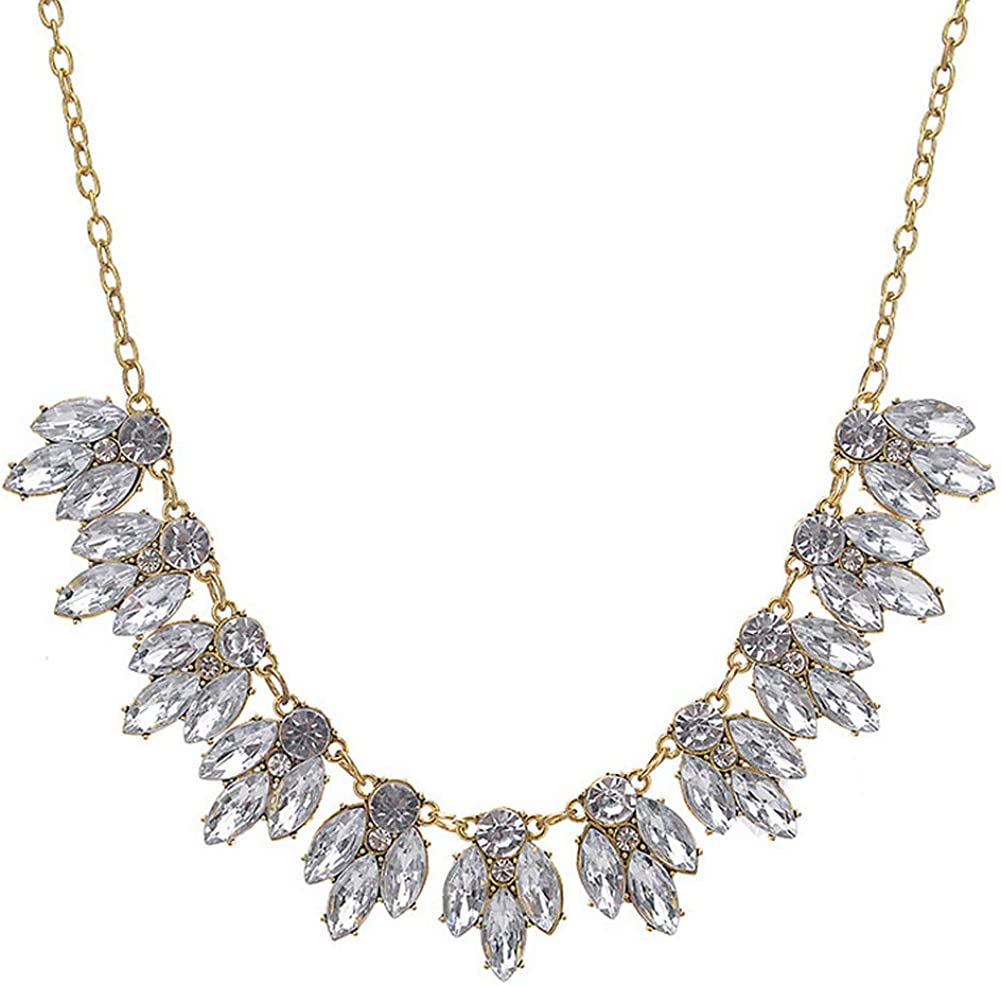 YAZILIND Shining Gemstone Collar Necklace Fashion Women Birthday Party Jewellery Gift