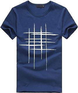 LuckyGirls Camisetas Hombre Originales Algodón Verano Manga Corta Rayas Polos Casual Camisas