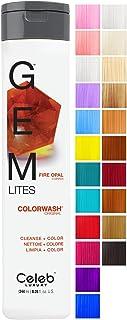 CELEB LUXURY セレブの高級宝石LitesのColorwash:銅、色堆積シャンプー、10羽の伝統的な色は、1クイックウォッシュでフェードを停止し、虐待フリー、クレンズ+カラー、硫酸塩フリー、100%ビーガン 240ミリリットル ファ...