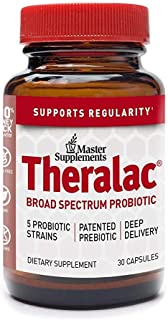 Master Supplements Theralac - 30 Vegan Capsules - Multi Strain Probiotic for Optimal Gut Health, Immune Booster, Gas and B...