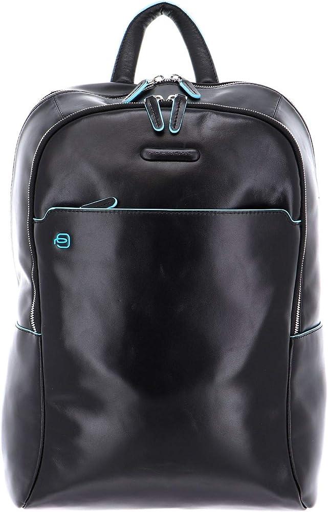 Piquadro, zaino porta pc portatile, tablet, laptop, in pelle CA4762B2/NERO