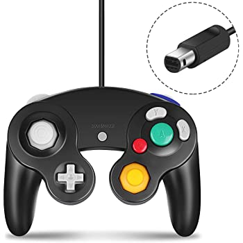 GC Controller Compatible with Gamecube Nintendo Wii U Classic Wired Controller NGC Gamepad Joystick Black