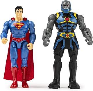 DC Comics 61926872 - Set di 2 statuette Azione Lega della Giustizia, 10 cm, Superman Dark Seid