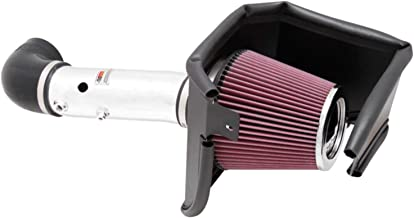 K&N Cold Air Intake Kit with Washable Air Filter:  2005-2019 Dodge/Chrysler (Challenger, Charger, Magnum, 300, 300C, 300S) 5.7L V8, Polished Metal Finish with Red Oiled Filter, 69-2526TP