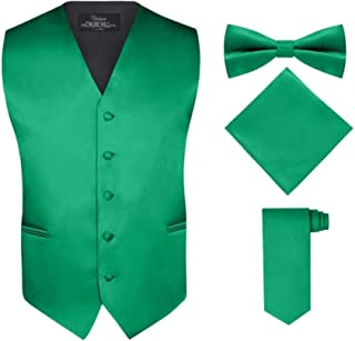 kelly green vest and tie