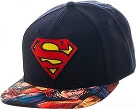 Marvel Superhero Avengers and Superman Logo Sublimated Adjustable Snapback Cap