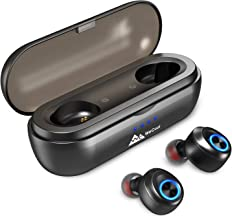 WeCool Moonwalk X in Ear True Wireless Earphones Earbuds with Latest BT v5.0 Upto 50 Hours Playtime with Charging Case TWS Bluetooth Headphones with Balanced Sound and Voice Assistant IPX5 Sweatproof