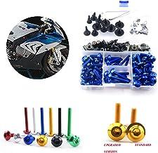 BIlinli 195pcs M5 M6 Motorcycle Complete Fairing Bolts Screw Fastener Clips For Suzuki GSXR1000 //1100//600//750,GSXS1000