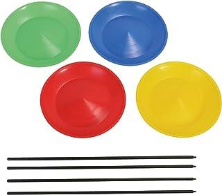Hudora Unisexs sport 4-delade jongleringsplattor, flerfärgad, en storlek