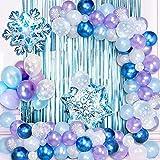 specool Kit de Guirnalda de Globos Blanco y Azul y Púrpura Copos de Nieve Decoracion Cumpleaños Globos para Despedida de Soltera Fiesta de Cumpleaños Aniversario Graduación Centro Decoración de Fondo