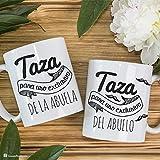 CosasdeRegalo.com Pack de Tazas Doble para Uso Exclusivo de Abuelos