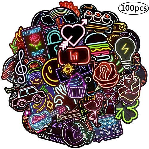 BETOY Sticker, Bomb Neon Aufkleber Graffiti Sticker Aufkleber Pack Vinyl Aufkleber Decals Geeignet für Computer, Auto, Motorrad, Fahrrad, Skateboard, Gepäck Dekoration Aufkleber, Hippie-Aufkleber