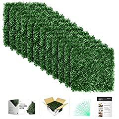 WE OFFER MORE THAN ANYONE ELSE, FOR LESS! ATTRACTIVE GIFT BOX with 12 tiles of 20 x 20 inch, 33 sq ft. Pack of 20 zip ties. Visual instruction manual. REALISTIC APPEARANCE through leaves that are taller (50 mm) and 4 layered (not 3). Our DENSER PANEL...