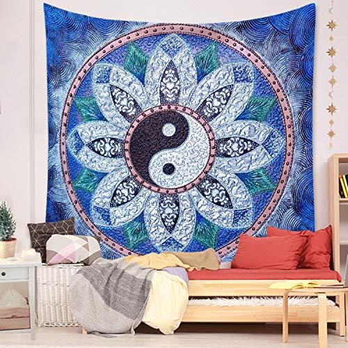 Tapiz nórdico mandala bohemio decoración del hogar colgante de pared estética geométrica dormitorio fondo tela mural A2 130x150cm