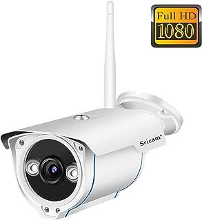 Sricam SP007 Cámara de Vigilancia Wifi Exterior Visión Nocturna HD 720P Impermeable IP66 Seguridad Exterior Detección de Movimiento Email Alarma Compatible con iOS Android y Windows PC