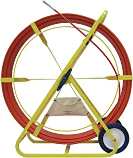 Jameson 11-38-600M Big Buddy Electrical Fish Tape Duct Rodder with 600 Feet of 1/2-inch Fiberglass Rod Marked Every 5 Feet