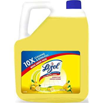 Lizol Disinfectant Surface & Floor Cleaner, Citrus - 5 L