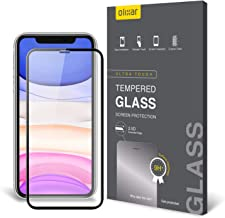 Olixar for iPhone 11 Screen Protector Full Coverage - Tempered Glass - 9H Rated - Shock Protection - Easy Application, Card and Cleaning Cloth Included - Black
