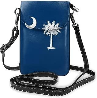 Small Crossbody Bags South Carolina Flag Cell Phone Purse Wallet Lightweight Crossbody Handbags For Women And Teen Girls