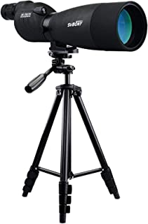 SVBONY SV17 Spotting Scope 25-75X70mm BaK4 Prism 380mm Focal Length Waterproof Straight Spotting Scope with 4 Sections Tri...