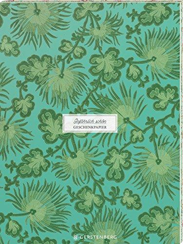 Gefährlich schön Geschenkpapier-Heft - Motiv Pariser Grün: 2 x 5 Bögen