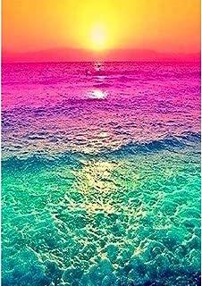DIY 5D Diamond Painting by Numbers Kits, Ocean Wave Colorful Sunset, Full Drill Rhinestones Paint with Diamonds Crystal Diamond Art (Ocean)