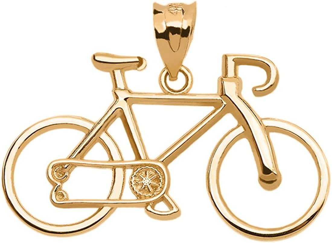 Sports Charms Bicycle Boston Mall Bike Pendant in Gold Yellow Purchase 10k