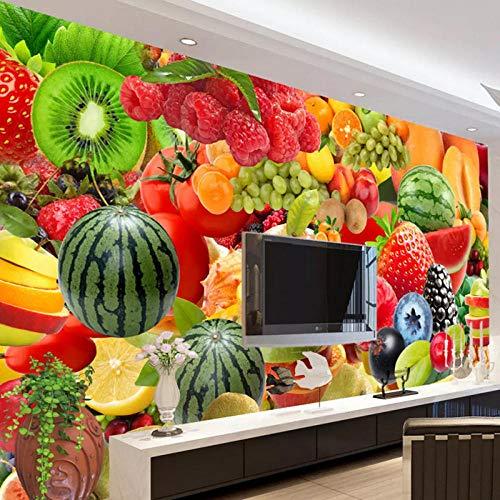 3D muur muurschildering, behang voor muren 3D keuken restaurant fruit winkel achtergrond Decor foto muur papier 208 cm (B) x 146 cm (H)