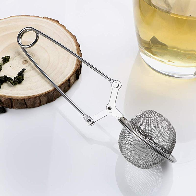 ITimo Sphere Mesh Tea Strainer Handle Tea Ball Stainless Steel Tea Infuser Coffee Herb Spice Filter Diffuser Kitchen Gadget