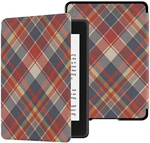 Gloednieuwe Kindle Paperwhite Waterveilige stoffen hoes (10e generatie, uitgave 2018), Schotse ruit Grof stof Textuur Naadloos patroon Vector Tablethoes