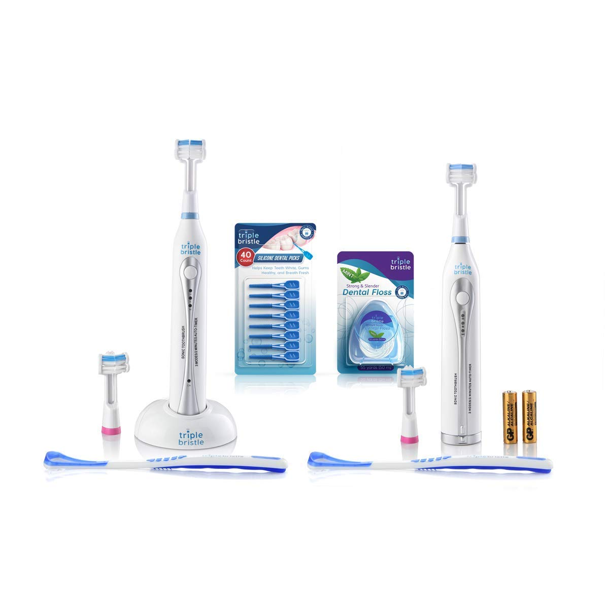 Triple Bristle Original GO Sonic Sale item + Oral New product type Care Kit Toothbrushes