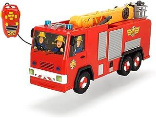 Dickie  Toys 203099001 – Coche de Bomberos con Control Remoto con Cable, 62 cm, diseño de Sam el Bombero