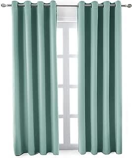 MEMIAS Window Darkening Curtains with Grommets, 2 Panels, Each Panel, 52