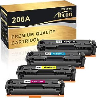 Arcon Compatible Toner Cartridge Replacement for HP 206A W2110A 206X M255dw for HP Color Laserjet Pro M255dw MFP M283fdw M...