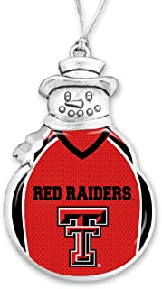 FTH Texas Tech Red Raiders Football Snowman Christmas Ornament