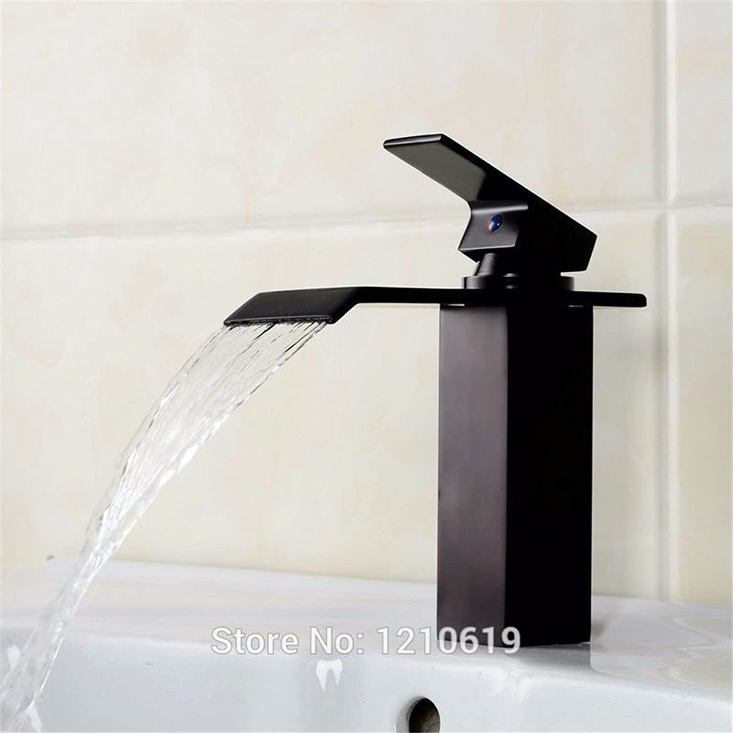 LHbox Basin Mixer Tap Bathroom Sink Faucet BlackAntique faucet antique wash basins taps full copper plus high cold and hot antique basin Faucet
