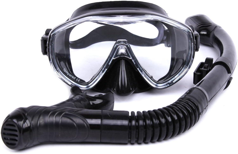 Scuba Schnorchel Set Set Set Schwimmbrille Maske Gehärtetem Glas Linsen Anti-Fog Anti-Leck Schnorcheln Frei,schwarz B07FNWHSDY  Schönes Aussehen c97f92