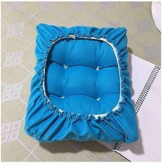LRuilo Cojín rectangular para silla rectangular de taburetes de bar, cojín de asiento, cojín grueso para silla rectangular de piano, taburete bajo (30 x 40 cm), color azul