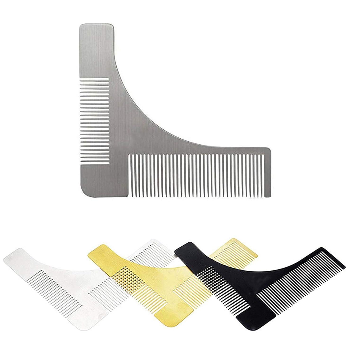 どうやらログ失礼ステンレス鋼のひげのスタイリングおよび形成のための型板の櫛用具 モデリングツール (色 : 304 material)
