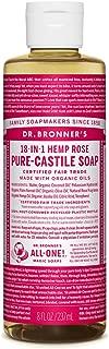 Dr. Bronner's - Pure-Castile Liquid Soap (Rose, 8 Ounce)