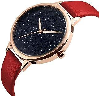 Wristband Women's Wrist Watches Women Analogue Quartz Watch Waterproof Quartz Watch Ladies Watch Leather Strap,Colour Nam...