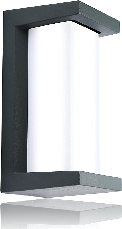 Babimax LED Auen Wandleuchte Wasserdichte Wandbeleuchtung Modern Stromsparend Kaltwei 10W