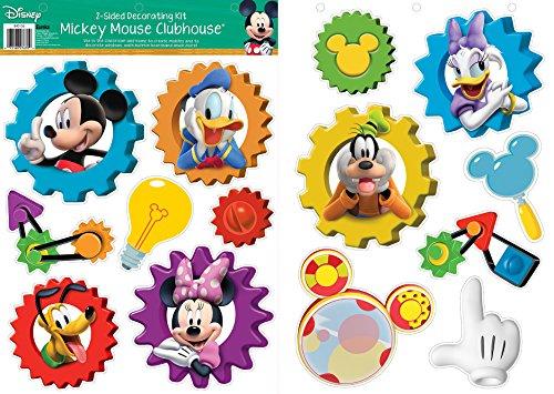 Eureka – Kit de decoración de 2 caras con personajes de gato en el sombrero, Mickey Mouse Clubhouse