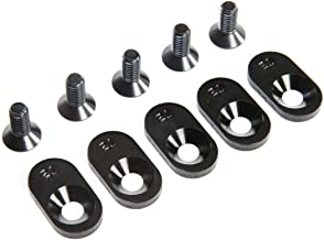 Losi Engine Mount Insert and Screws 21T, Black (5): 5ive-T 2.0 (fits 62T spur), LOS252105