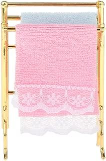 casa de muñecas en miniatura Toallero de oro toallas de baño Accesorio 1//12 escala.
