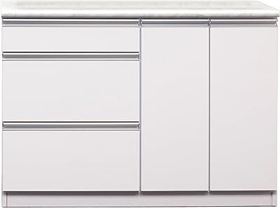 大川家具 関家具 カウンター 幅120cm ホワイト CK-234363