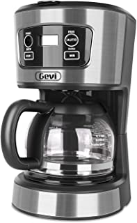 Coffee Maker, 5 Cup Programmable Coffee Machine, gery