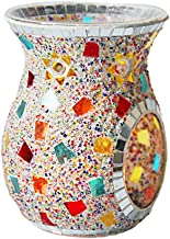 Fenteer Mosaic Glass Candle Holders Tea Light Candle Holder Fragrance Essential Oil Diffuser for Table,Wedding Decor - Col...